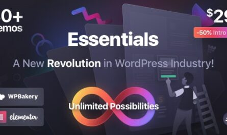 Essentials 2.0.3 Nulled – Multipurpose WordPress Theme - WordPress