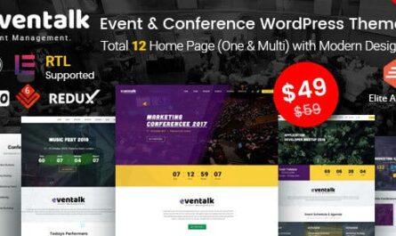 EvnTalk v1.6.5 – Event Conference WordPress Theme