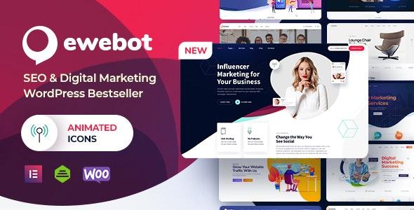 Ewebot 2.4.2 Nulled – Marketing SEO Digital Agency WordPress Theme -
