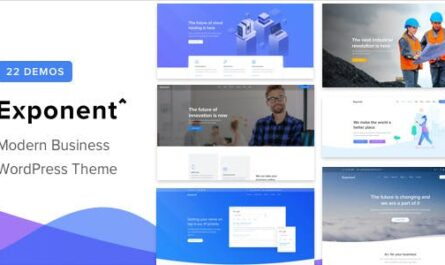 Exponent 1.2.9.2 – Modern Multi-Purpose Business WordPress theme -