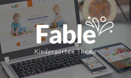 Fable v3.4 – Children Kindergarten WordPress Theme 3.4