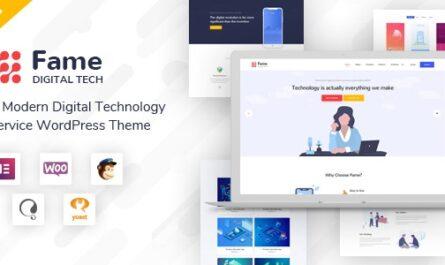 Fame v1.3 – Digital Technology/Service WordPress Theme