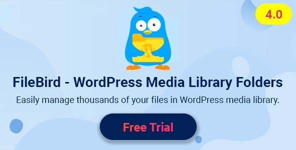 FileBird Pro 4.7.9 – WordPress Media Library Folders -