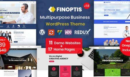 Finoptis v2.6.1 – Multipurpose Business WordPress Theme