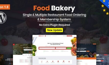 FoodBakery v2.3 Nulled – Food Delivery Restaurant Directory WordPress