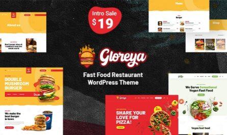 Gloreya 2.0.4 – Restaurant Fast Food & Delivery WooCommerce Theme