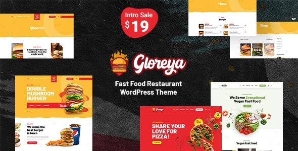 Gloreya v2.0.3 – Fast Food WordPress Theme