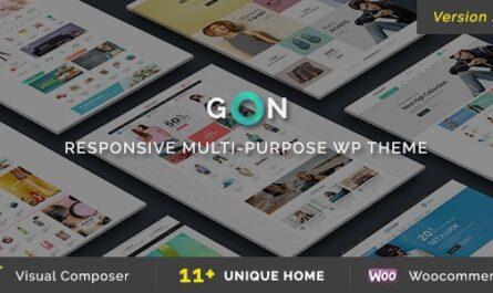 Gon v2.1.7 – Responsive Multi-Purpose Theme