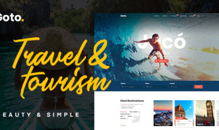 Goto v2.0.0 – Tour & Travel WordPress Theme