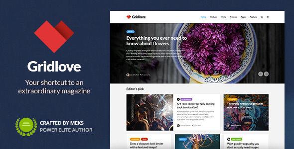 Gridlove v1.9.9 – Creative Grid Style News & Magazine