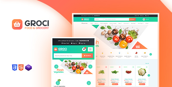Groci v2.1.1 – Organic Food and Grocery Market WordPress Theme