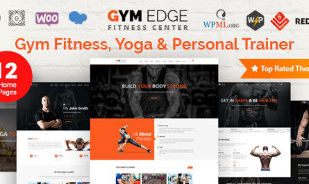 Gym Edge v4.2.2 – Gym Fitness WordPress Theme