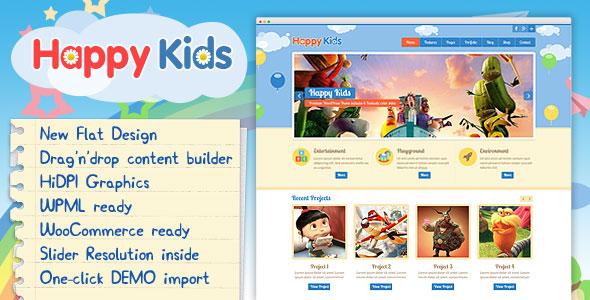 Happy Kids v3.5.1 – Children WordPress Theme