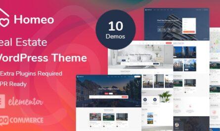 Homeo v1.2.7 – Real Estate WordPress Theme