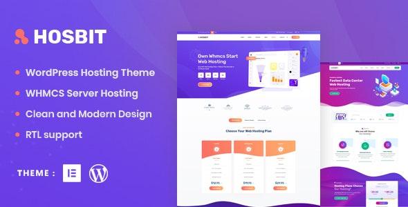 Hosbit v1.0 – WHMCS & Hosting WordPress Theme
