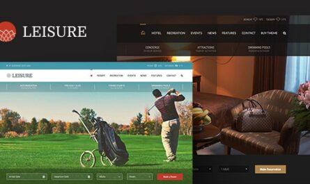 Hotel Leisure v2.1.18 – Hotel WordPress Theme