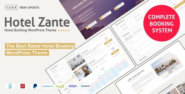 Hotel Zante v1.3.4.4 – Hotel Booking Theme
