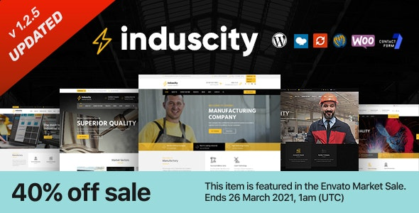 Induscity v1.2.5 – Factory and Manufacturing WordPress Theme