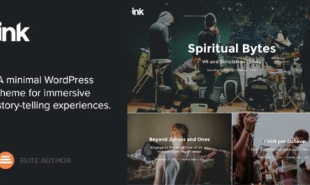 Ink v2.3.4 – A WordPress Blogging theme to tell Stories