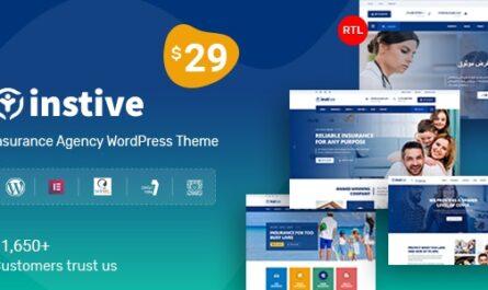 Instive v1.1.6 – Insurance WordPress Theme