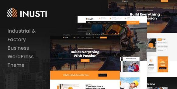 Inusti – Factory & Industrial WordPress Theme v1.0.0