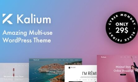 Kalium v3.3.1 – Creative Theme for Professionals