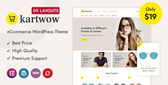Kartwow v1.0 – Multipurpose WooCommerce Theme