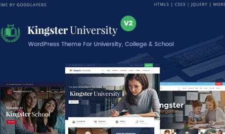 Kingster v2.0 – Education WordPress For University, College and School