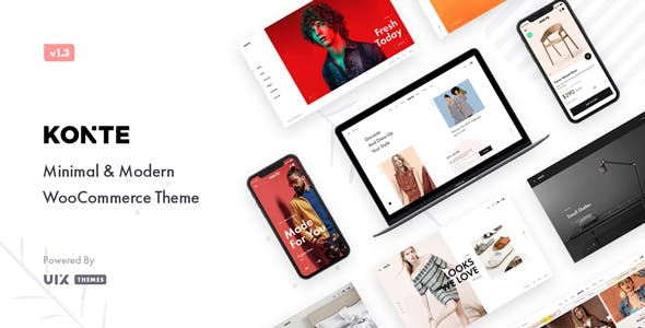 Konte v1.9.0 – Minimal & Modern WooCommerce Theme