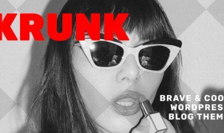 Krunk v5.0.1 – Brave & Cool WordPress Blog Theme