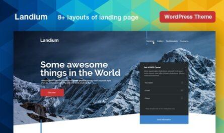 Landium v2.2.8 – WordPress App Landing Page