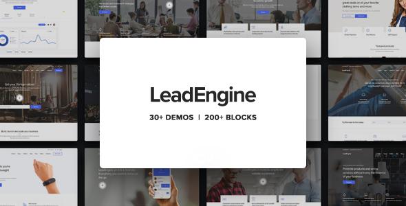 LeadEngine v2.9 – Multi-Purpose Theme with Page Builder