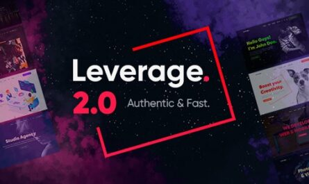 Leverage v2.0.7 – Creative Agency & Portfolio WordPress Theme