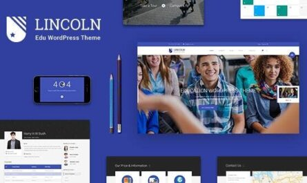 Lincoln v4.3.1 – Education Material Design WordPress Theme