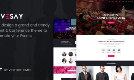 Livesay v1.9.1 – Event & Conference WordPress Theme