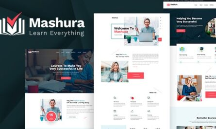 Mashura v1.01 – LMS Education & Online Courses Theme -