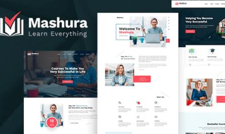 Mashura - LMS Education & Online Courses Theme