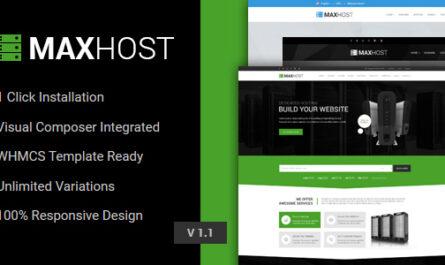 MaxHost 7.5.2 – Web Hosting, WHMCS and Corporate Business WordPress