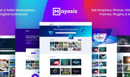 Mayosis v3.1 – Digital Marketplace WordPress Theme