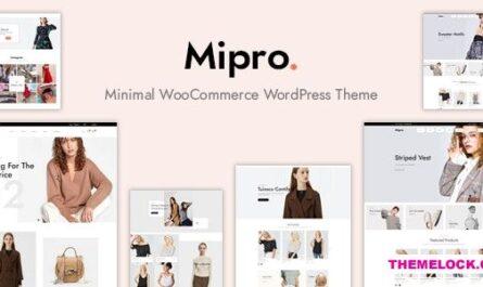 Mipro v1.1.9 – Minimal WooCommerce WordPress Theme