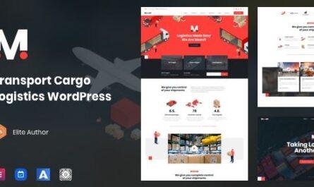 Moovit - Transportation Logistics WordPress Theme