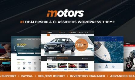 Motors v4.9.9 – Automotive, Cars, Vehicle, Boat Dealership