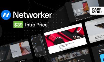 Networker v1.0.7 – Tech News WordPress Theme with Dark Mode