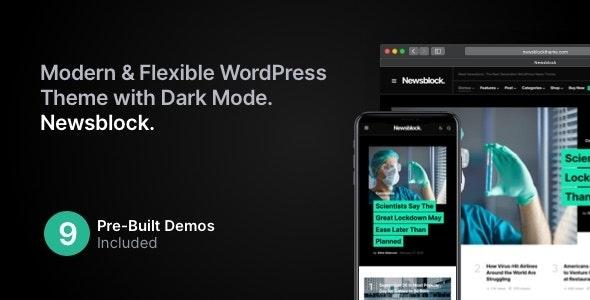 Newsblock v1.1.4 – News & Magazine WordPress Theme with Dark Mode
