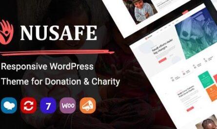 Nusafe v1.7 | Responsive WordPress Theme for Donation & Charity