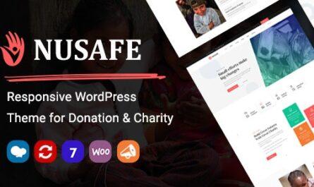 Nusafe v1.8 – Responsive WordPress Theme for Donation & Charity