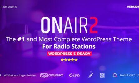 Onair2 v3.9.9.4 – Radio Station WordPress Theme With Non-Stop Music Player