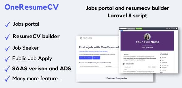 OneResumeCV Jobs board and resume builder