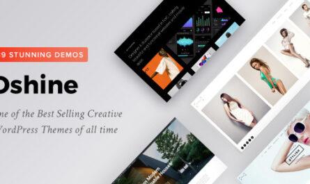 Oshine v7.0.2 - Multipurpose Creative Themes - WordPress Theme, Plugins,