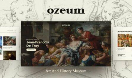 Ozeum - Modern Art Gallery and Creative Online Museum WordPress Theme
